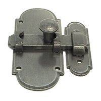 LB Brass - European Country - Cabinet Latch in Satin Steel
