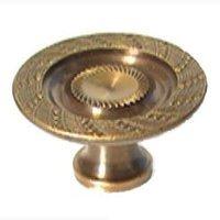 "LB Brass - Classic - Dish Knob ( 1.125"" ) in Polished Brass"