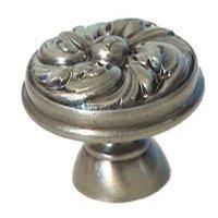 """LB Brass - Classic - Flower Swirl Knob ( 1.125"""" ) in Polished Brass"""