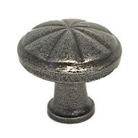 "LB Brass - European Country - Cabinet Knob ( 1.125"" ) in Satin Steel"