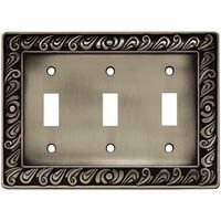 Liberty Hardware - Switchplates I - Triple Toggle in Brushed Satin Pewter