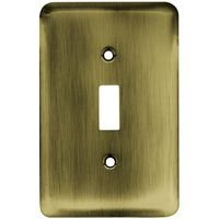 Liberty Hardware - Switchplates I - Brainerd Stamped Steel Round Single Toggle in Antique Brass