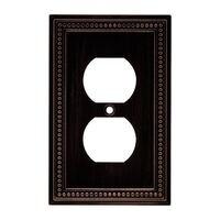 Liberty Hardware - Switchplates II - Single Duplex Outlet in Venetian Bronze