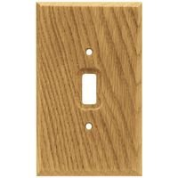 Liberty Hardware - Switchplates I - Single Toggle in Medium Oak