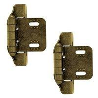 Liberty Hardware - Cabinet Accessories - 1/4 Semi-Wrap Overlay Hinge, 2 per pkg in Antique English