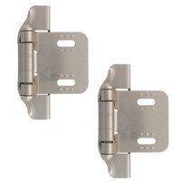Liberty Hardware - Cabinet Accessories - 1/4 Semi-Wrap Overlay Hinge, 2 per pkg in Satin Nickel