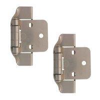 Liberty Hardware - Cabinet Accessories - 1/2 Semi-Wrap Overlay Hinge, 2 per pkg in Satin Nickel