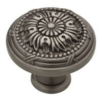 Liberty Hardware - Provincial Antiques - 1-1/8 Round Vintage Knob in Heirloom Silver