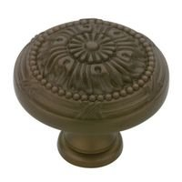 Liberty Hardware - Provincial Antiques - 1-1/8 Round Vintage Knob in Rubbed Bronze Ii