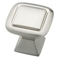 "Liberty Hardware - Southampton - 1 1/4"" Square Knob with Square Base in Satin Nickel"