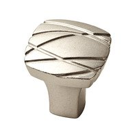 "Liberty Hardware - Myrcella - 1 1/4"" Square Ayanna Knob in Bedford Nickel"