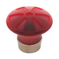 Liberty Hardware - Watercolours - Pinwheel Knob in Garnet and Satin Nickel