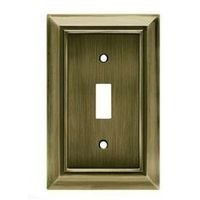 Liberty Hardware - Switchplates II - Single Toggle Wall Plate in Antique Brass