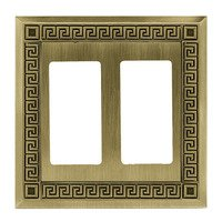 Liberty Hardware - Switchplates - Double GFI/Rocker in Antique Brass