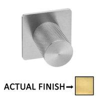 Linnea Hardware - Futura - Cross Hatch Radial Knob in Satin Stainless Steel
