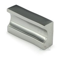 "Linnea Hardware - Futura - 2"" Centers Indented Square Pull in Polished Stainless Steel"