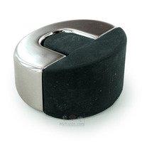 """Linnea Hardware - Door Stops - 1 3/4"""" Diameter Floor Mounted Door Stop in Polished Stainless Steel"""