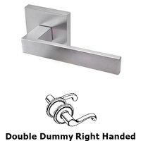 Linnea Hardware - Door Levers - Double Dummy Left Handed Door Lever in Satin Stainless Steel