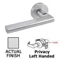 Linnea Hardware - Door Levers - Privacy Left Handed Door Lever in Polished Stainless Steel