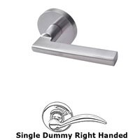 Linnea Hardware - Door Levers - Single Dummy Right Handed Door Lever in Satin Stainless Steel