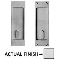 "Linnea Hardware - Pocket Door Locks - 8 1/4"" Square Passage Pocket Door Lock in Polished Stainless Steel"