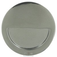"Linnea Hardware - Flush Pulls - 3 1/2"" Diameter Recessed Pull with Half Moon in Polished Stainless Steel"