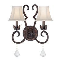 "Lite Source - Wall Light - 14 1/2"" Tall Wall Light in Antique Bronze"