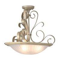 "Lite Source - Semi-Flush Ceiling Light - 15"" Tall Semi-Flush Ceiling Light in Pearl"