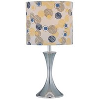 """Lite Source - Contemporary Table Lamps - 20"""" Tall Table Lamp in Chrome with Colored Fabric Shade"""