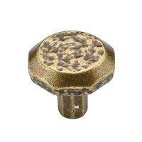 "Manzoni Hardware - Mystic - 1 1/4"" Diameter Hammered Cabinet Knob in Antique Florence"