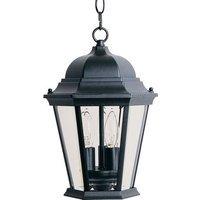 "Maxim Lighting - Westlake - 9"" Cast 3-Light Outdoor Hanging Lantern in Black"