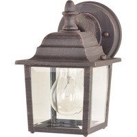 "Maxim Lighting - Builder Cast - 5 1/2"" 1-Light Outdoor Wall Lantern in Rust Patina"