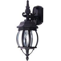 "Maxim Lighting - Crown Hill - 6 1/2"" 1-Light Outdoor Wall Lantern in Black"