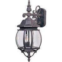 "Maxim Lighting - Crown Hill - 8"" 3-Light Outdoor Wall Lantern in Rust Patina"