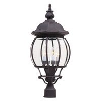 "Maxim Lighting - Crown Hill - 11"" 4-Light Outdoor Pole/Post Lantern in Rust Patina"