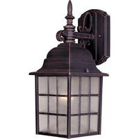 "Maxim Lighting - North Church - 6"" 1-Light Outdoor Wall Lantern in Rust Patina"