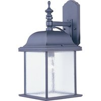 "Maxim Lighting - Governor - 9"" 1-Light Outdoor Wall Lantern in Black"