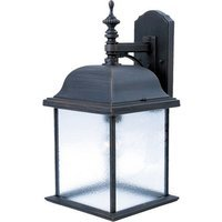 "Maxim Lighting - Governor - 9"" 1-Light Outdoor Wall Lantern in Rust Patina"