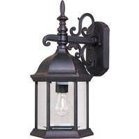 "Maxim Lighting - Builder Cast - 8"" 1-Light Outdoor Wall Mount in Empire Bronze with Clear Glass"