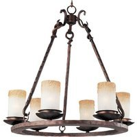 "Maxim Lighting - Notre Dame - 24"" 6-Light Chandelier in Oil Rubbed Bronze with Wilshire Glass"