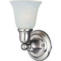 "Maxim Lighting - Bel Air - 6 1/2"" 1-Light Wall Sconce in Satin Nickel with Soft Vanilla Glass"