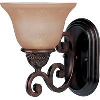 "Maxim Lighting - Symphony - 7"" 1-Light Wall Sconce in Oil Rubbed Bronze with Screen Amber Glass"