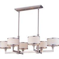 """Maxim Lighting - Nexus - 21 1/4"""" 6-Light Chandelier in Satin Nickel"""