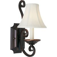"""Maxim Lighting - Manor - 7"""" 1-Light Wall Sconce in Shades with Oil Rubbed Bronze"""