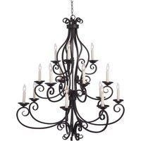"""Maxim Lighting - Manor - 45"""" 15-Light Chandelier in Oil Rubbed Bronze"""