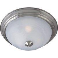 "Maxim Lighting - Satin Nickel - 11 1/2"" 1-Light Outdoor Ceiling Mount in Satin Nickel with Marble Glass"