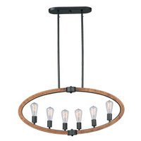 Maxim Lighting - Bodega Bay - Bodega Bay 6-Light Pendant w/Bulb in Anthracite