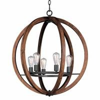 Maxim Lighting - Bodega Bay - Bodega Bay 6-Light  Chandelier in Anthracite