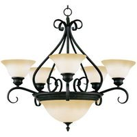 "Maxim Lighting - Pacific - 27"" 7-Light Chandelier in Kentucky Bronze with Wilshire Glass"