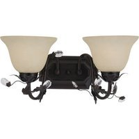 "Maxim Lighting - Elegante - 17 1/2"" 2-Light Bath Vanity in Oil Rubbed Bronze with Frosted Ivory Glass"